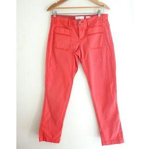 Anthropologie Hei Hei Orange Crop Pants Size 2